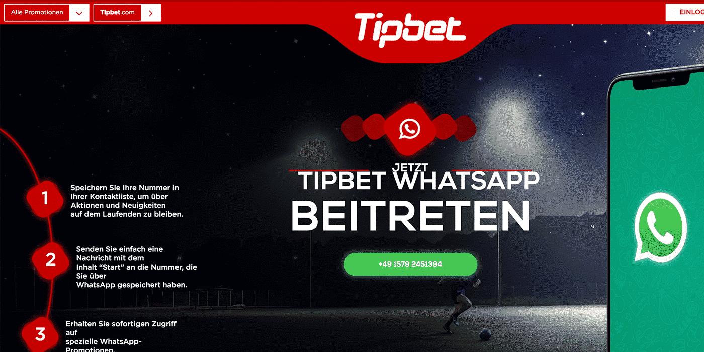 tipbet whats app aktionen