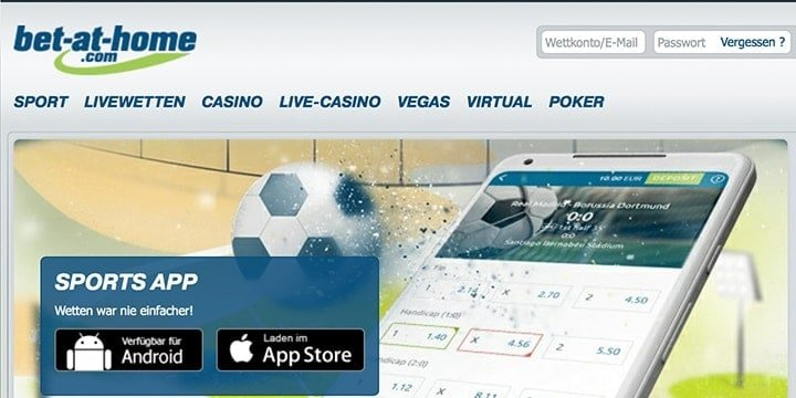 Bet at Home mobile App
