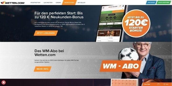 Wetten.com Aktionen