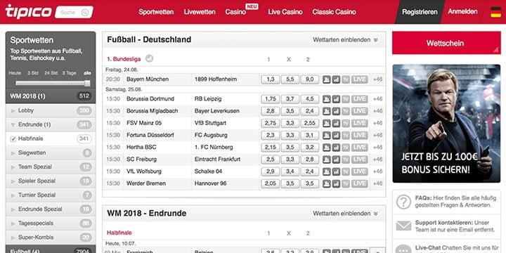 Tipico Bundesliga Wetten