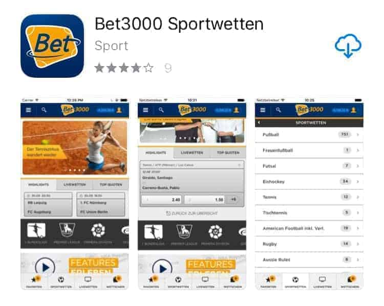 So gut ist die Sportwetten App von bet3000