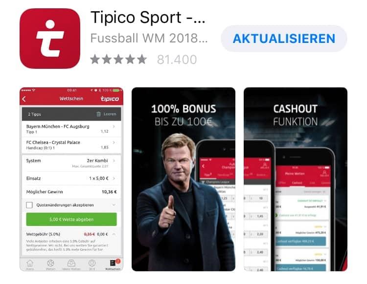 So gut ist die Sportwetten App von Tipico