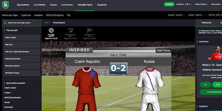 Bet90 Virtueller Sport