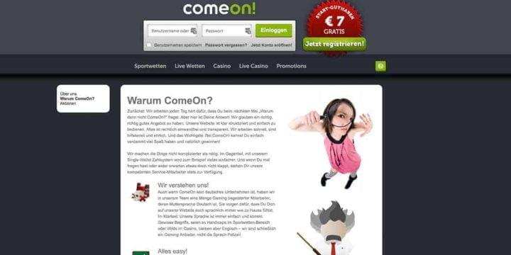 Warum Comeon?