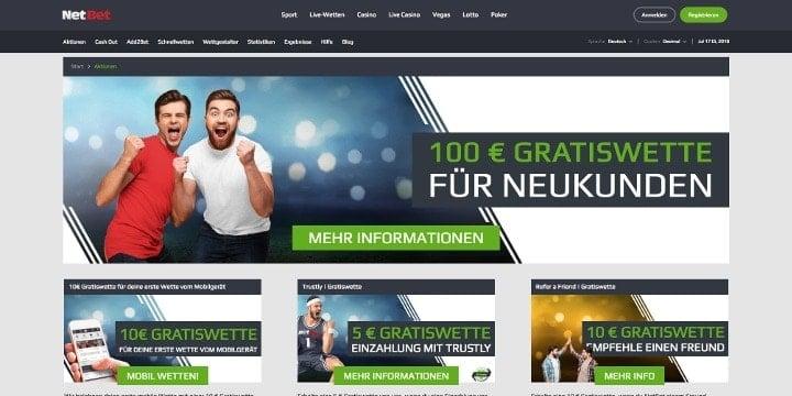 NetBet Aktionen