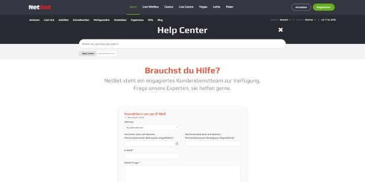 NetBet Kundenservice
