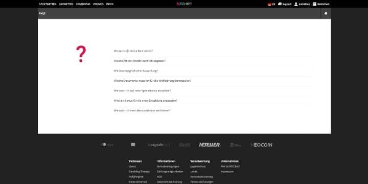 NEO.bet FAQ