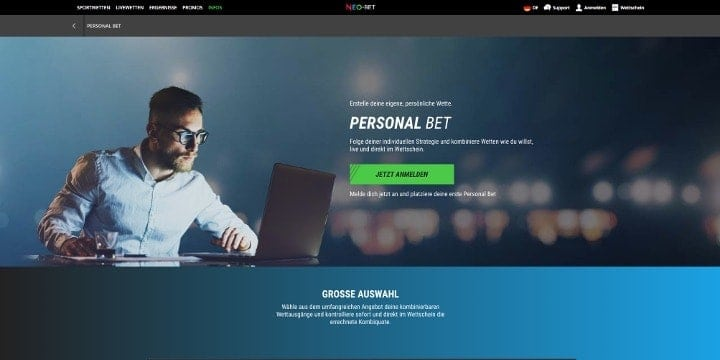 Neo.bet Personal Bet