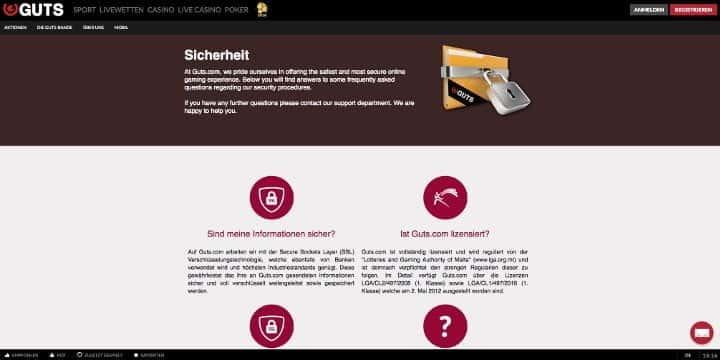 Guts.com Sicherheit