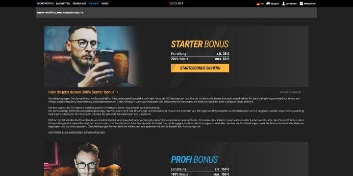Neo.bet Starter Bonus
