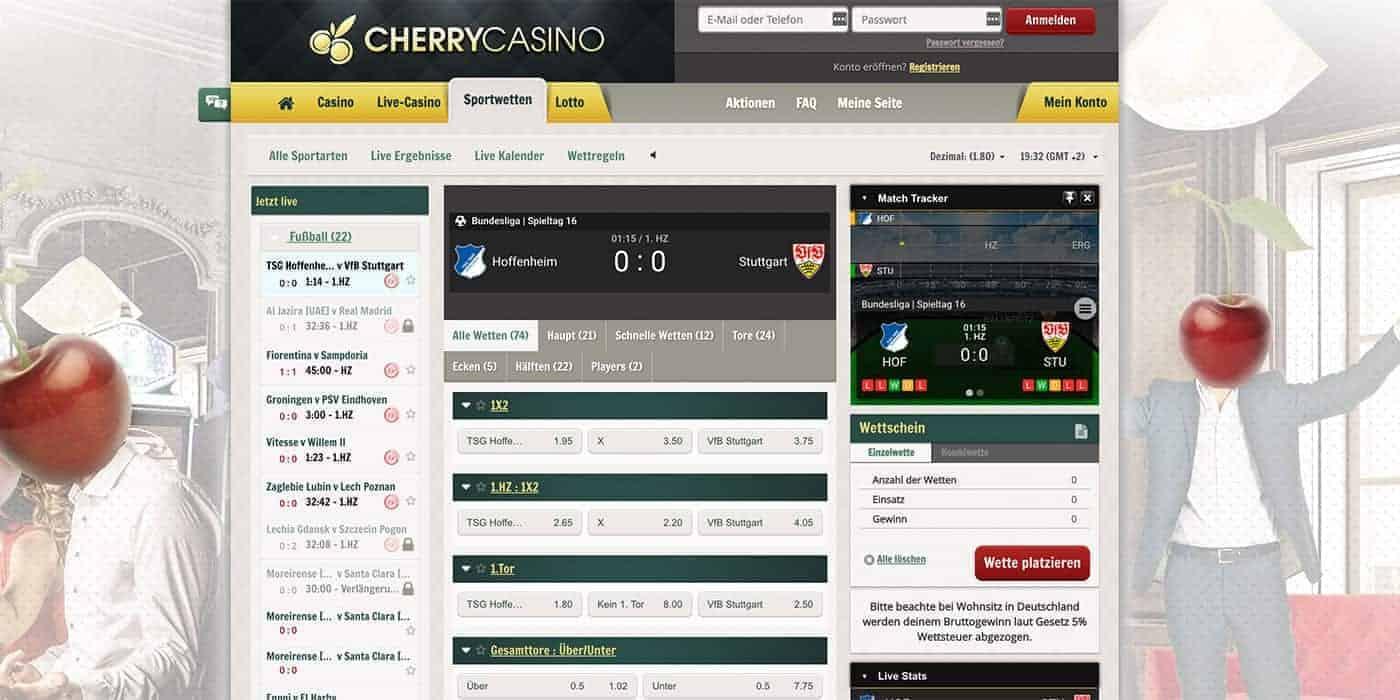 Cherry Sports Live Wetten