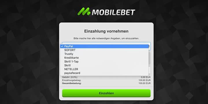 Mobilebet Zahlungen