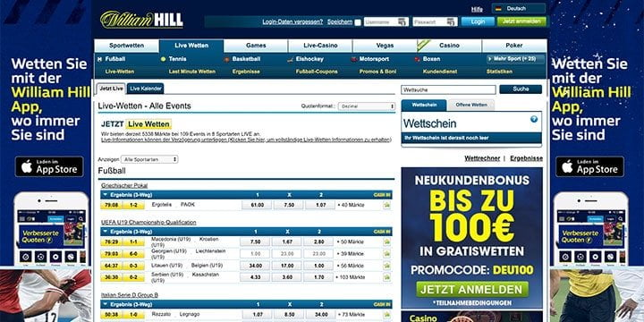 William Hill Live Wetten