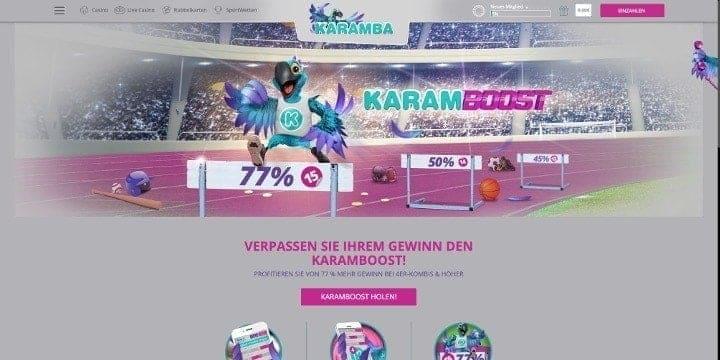 Karamba Sportwetten Karamboost