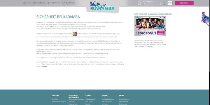 Karamba Sportwetten Sicherheit