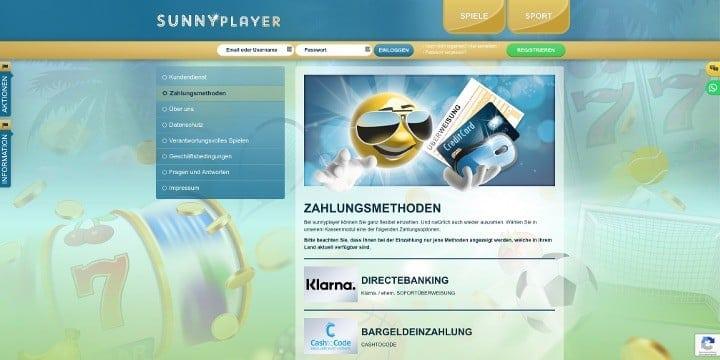 Sunnyplayer Sportwetten Zahlungen