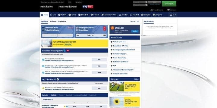 SkyBet Sportwetten
