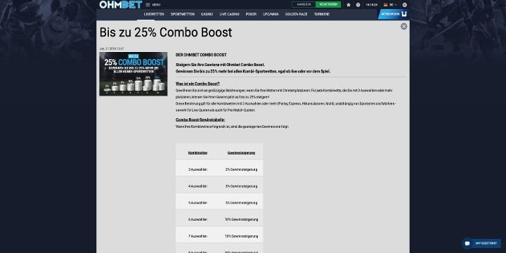Ohmbet Combo Boost