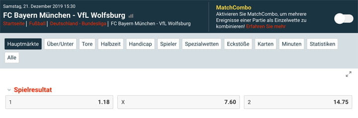 Bundesliga Wettquoten