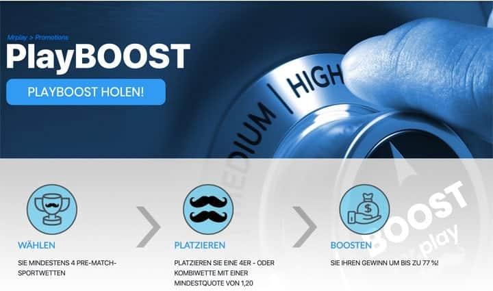 Mr Play Sportwetten Boost
