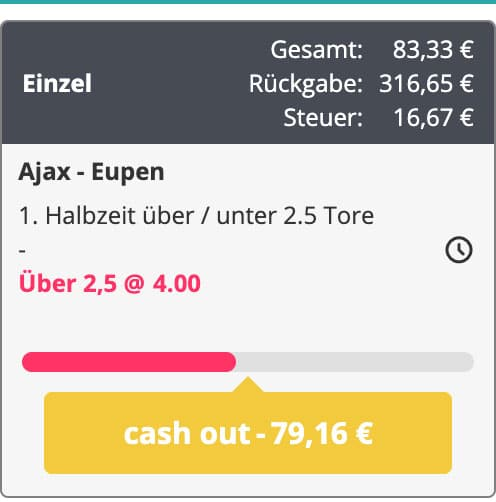 Novibet Cash Out Wetten