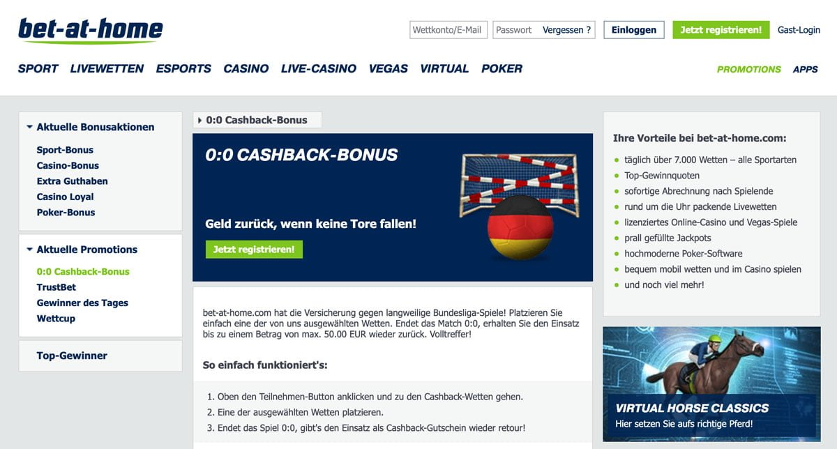 Bet at Home Cashback