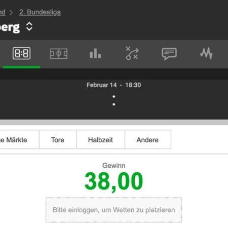Betkonfigurator / Wettkonfigurator für Online Wetten
