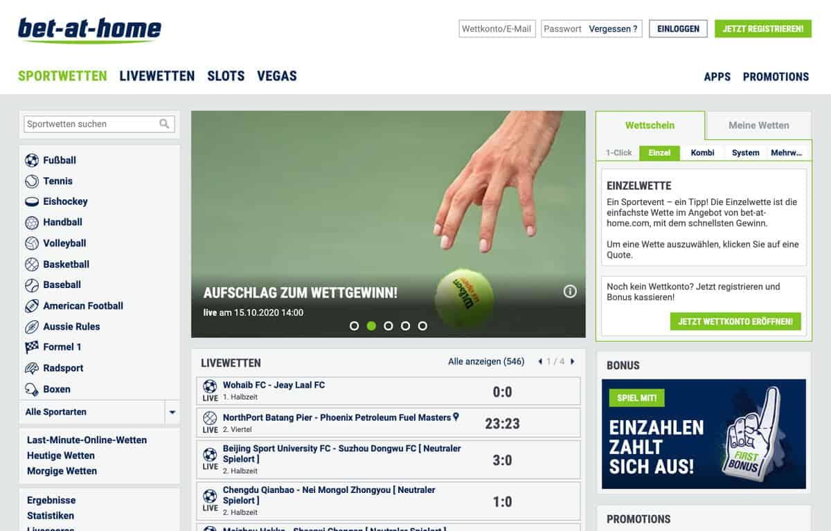 Bet at Home Sportwetten