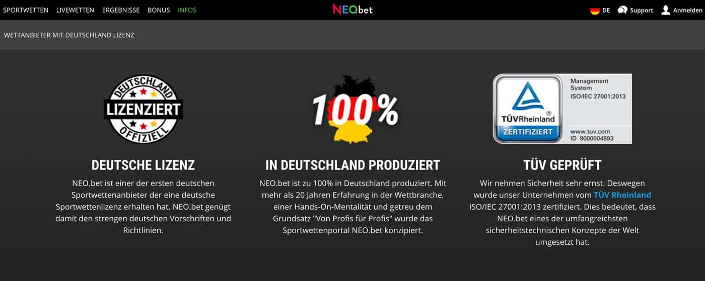 Neobet Deutschland Lizenz