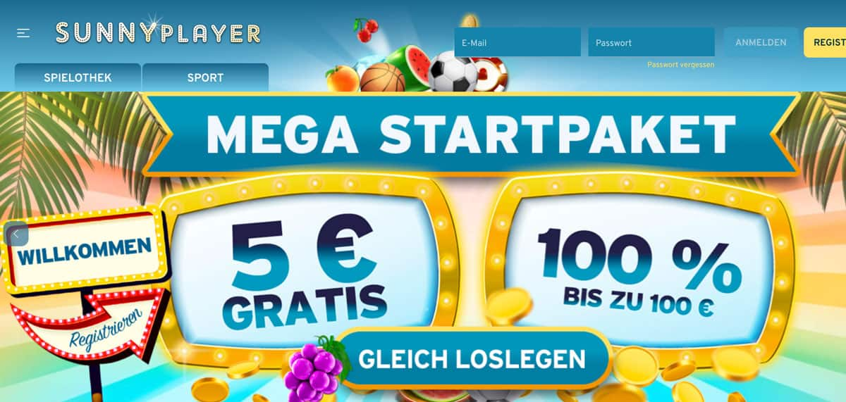 Sunnyplayer Sportwetten Bonus