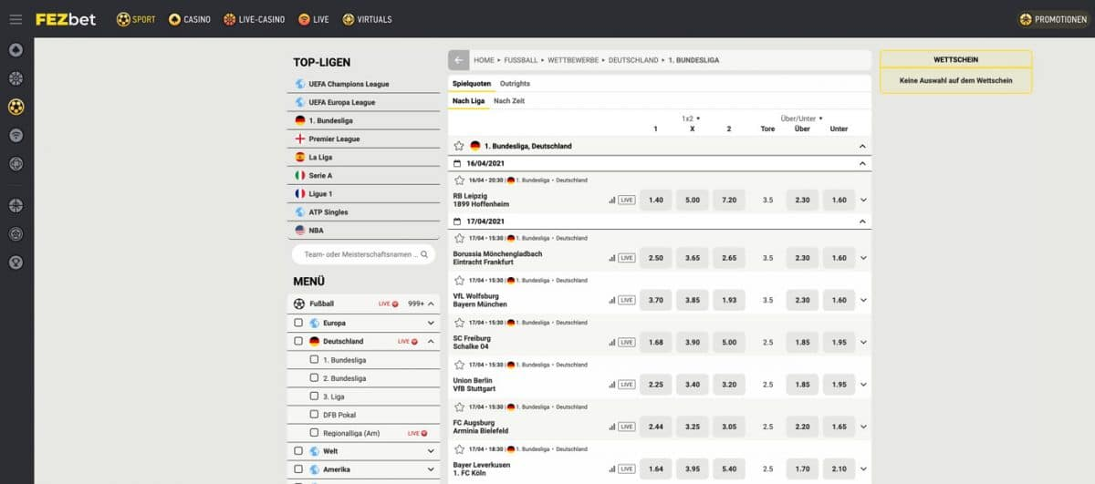FEZbet Bundesliga Wetten