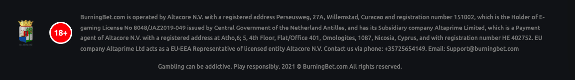 burningbet lizenz