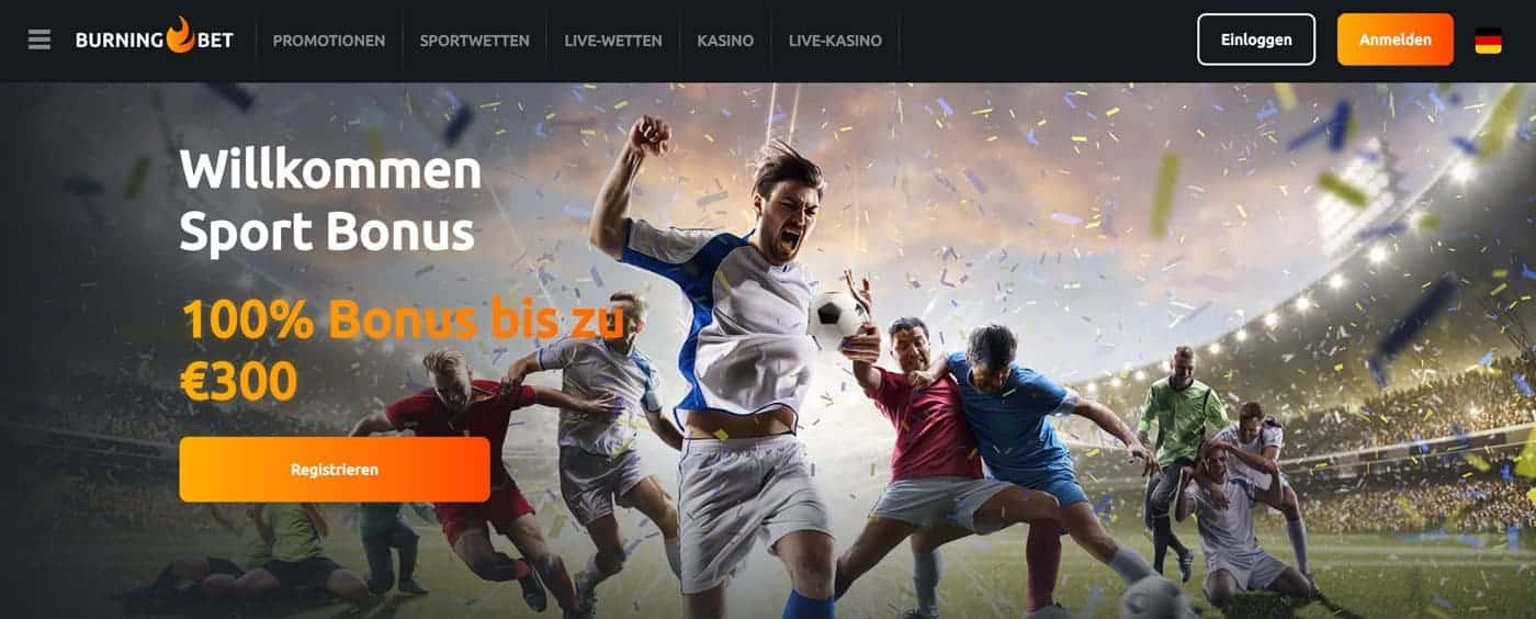 BurningBet Sportwetten Bonus