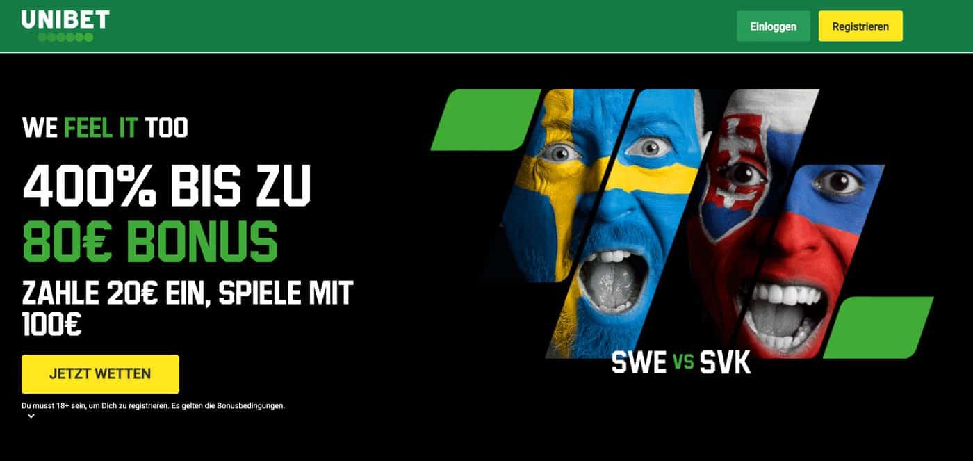 Schweden - Schweiz Top Quoten und Bonus